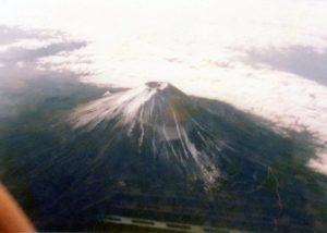 富士山上空から